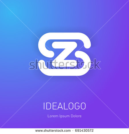 Logo Template Letters S Z On Stock Vector 691430572 Shutterstock