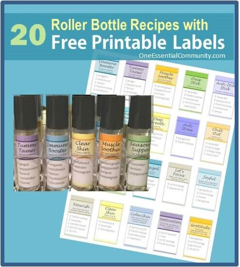 Roller Bottle Blend Recipes with Free Printable Labels ONE