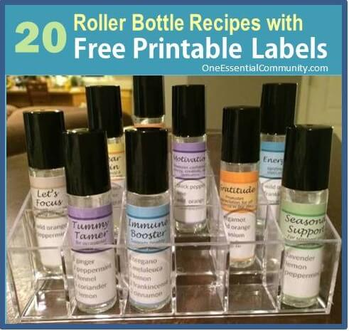 Roller Bottle Blend Recipes with Free Printable Labels | Roller