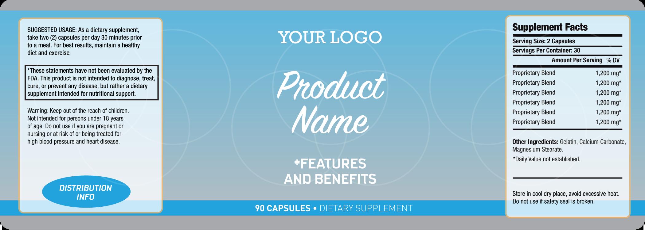 4 oz Bubble Bottle Labels Digital Collage Sheet Layered