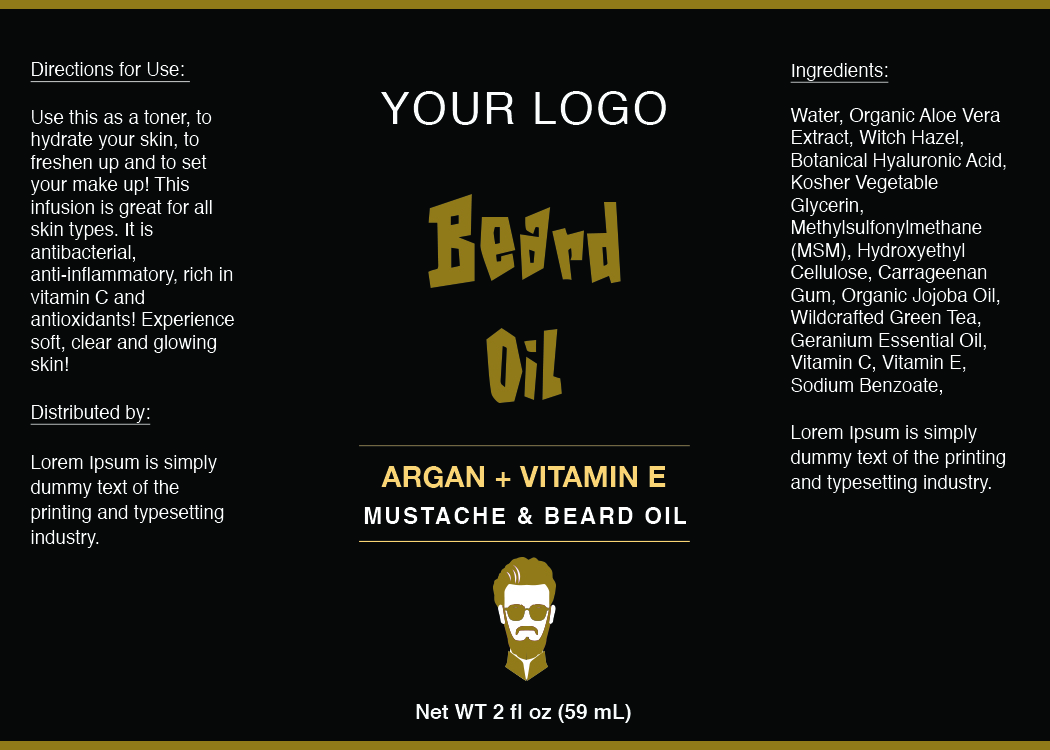 Beard Oil Label ID26 | aiwsolutions