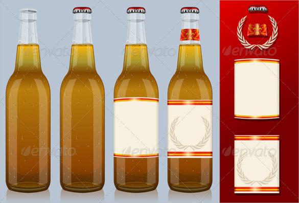 Standard White Matte Beer Bottle Labels Bottle Labels OL3078