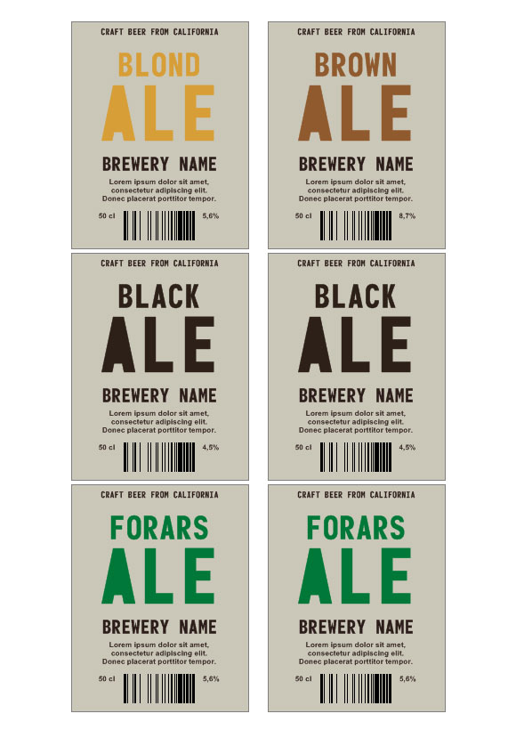 Standard White Matte Beer Bottle Labels Bottle Labels OL3078