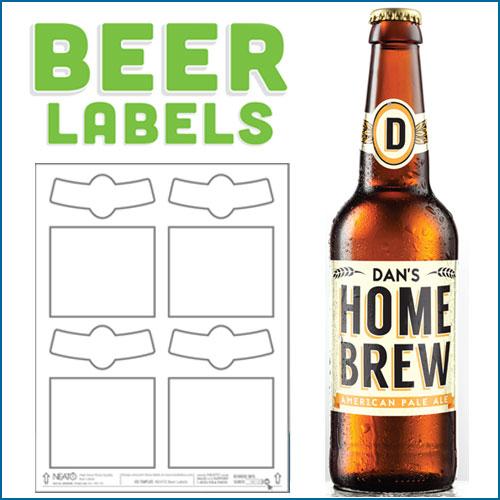 Blank Beer Labels, Water Resistant, Peel Off With Easy