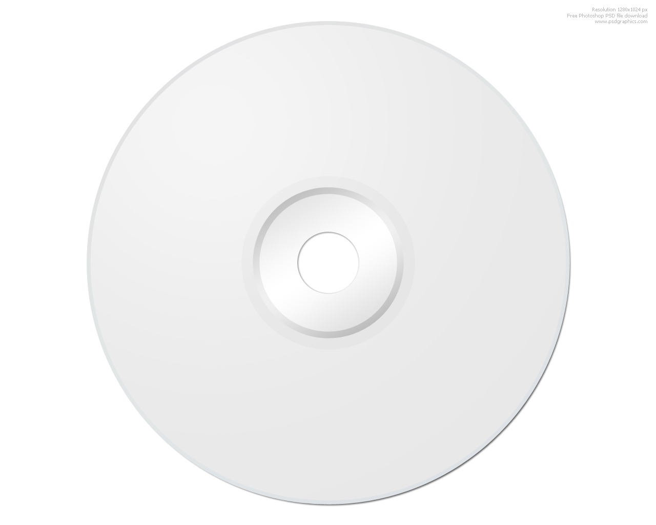 Blank CD photoshop template | PSDGraphics