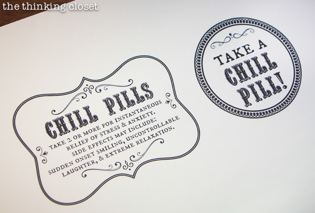 FREE Silhouette Studio Cut File for Chill Pill Bottle Labels. A