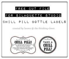 Chill Pills Gag Gift & Silhouette Giveaway — the thinking closet