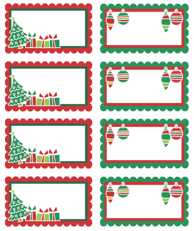 Free Printable Christmas Gift Tags/Labels from Letters from Santa