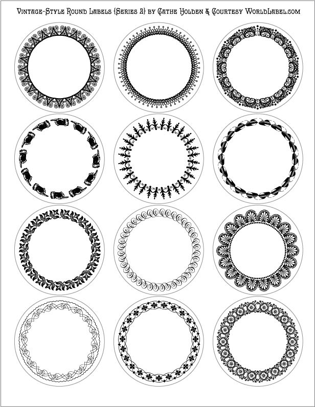 Removable White Matte Round Labels Circle Labels OL350 2.5