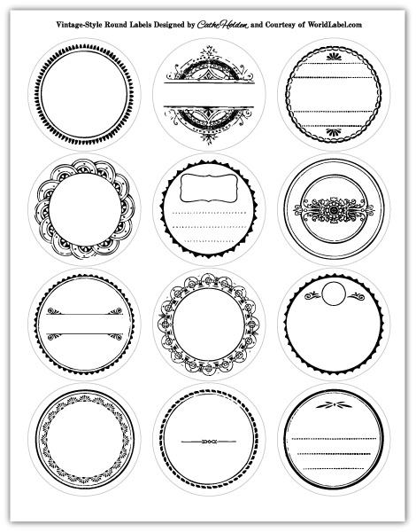 25+ unique Round labels ideas on Pinterest | Kitchen jar labels