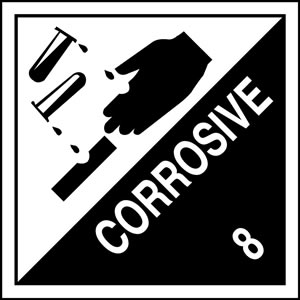 Corrosive hazard warning diamond sign | HW1040A | Label Source