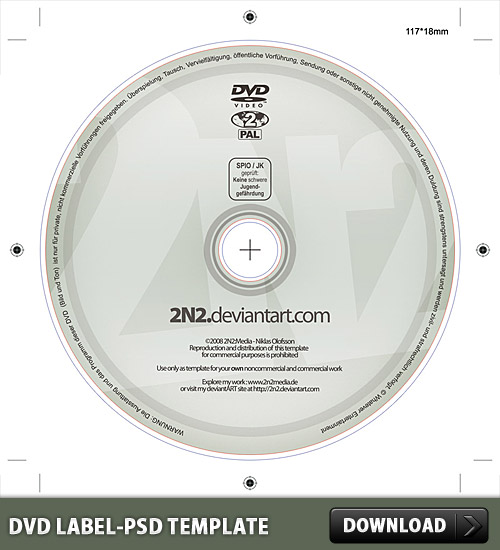 DVD Label Free PSD Template Download Download PSD