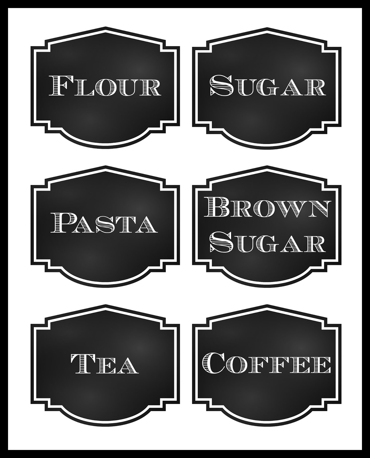 Reorganized Simplicity: FREE Printable: Chalkboard Style Pantry Labels