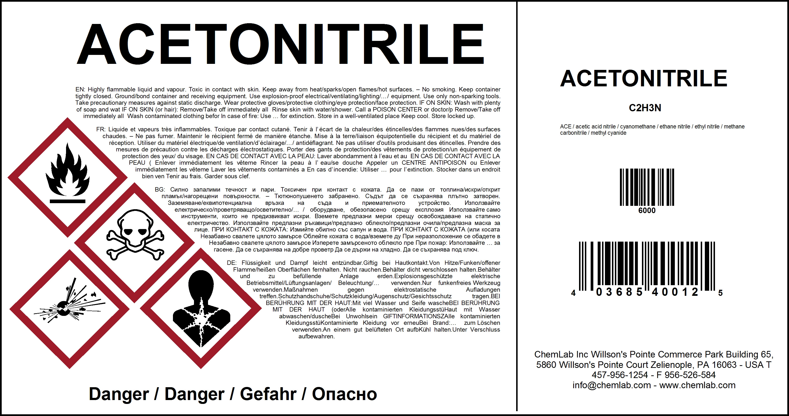 Chemical labeling, GHS compliance labeling | NiceLabel