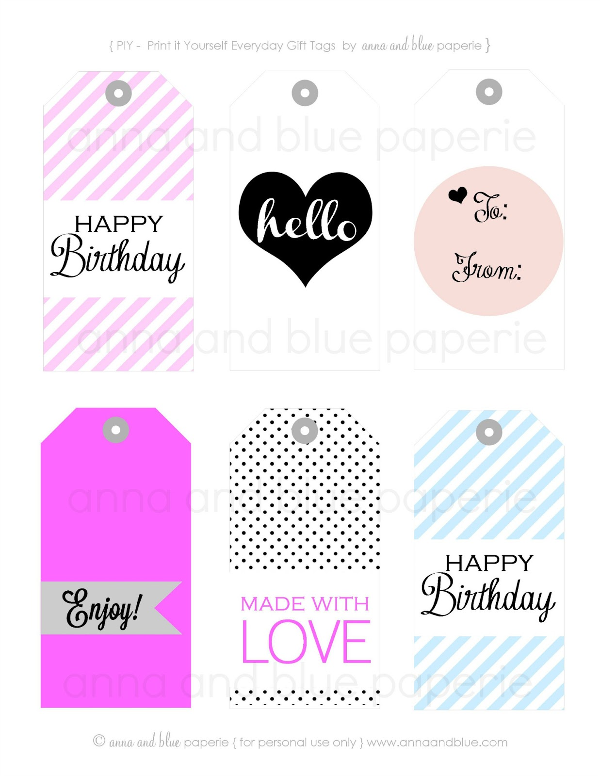 Free Printable Gift Tags – Craftbnb