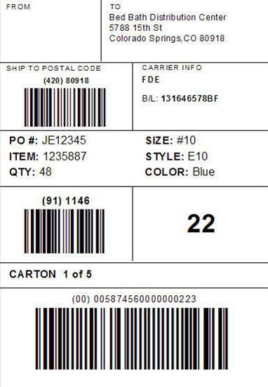 Shipping Label Format (GS1 128) | Acctivate Help