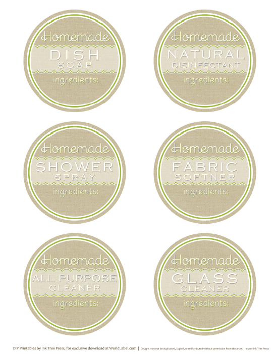 Designed Label Templats for Soap and Candles.