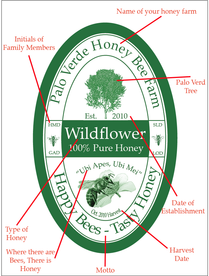 Free Templates To Create Customized Honey Labels