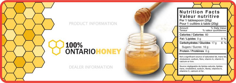 100% Honey Labels | Ontario Beekeepers' Association