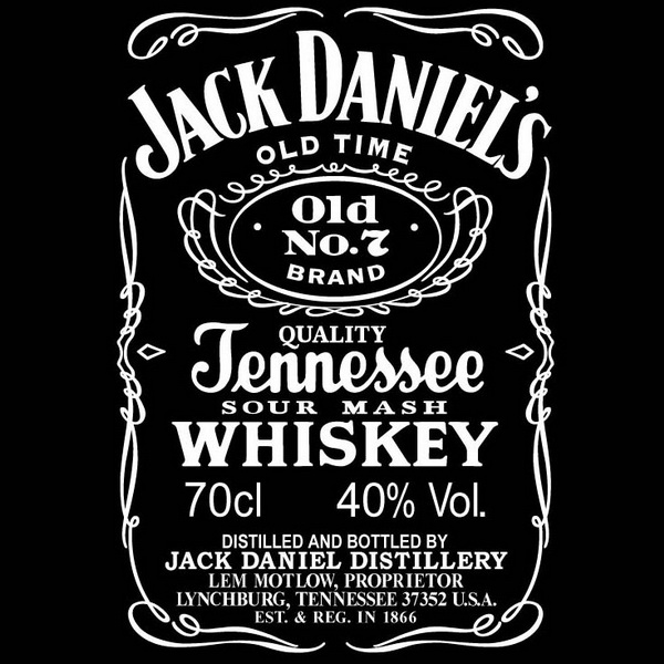 Jack Daniels Font and Jack Daniels Label