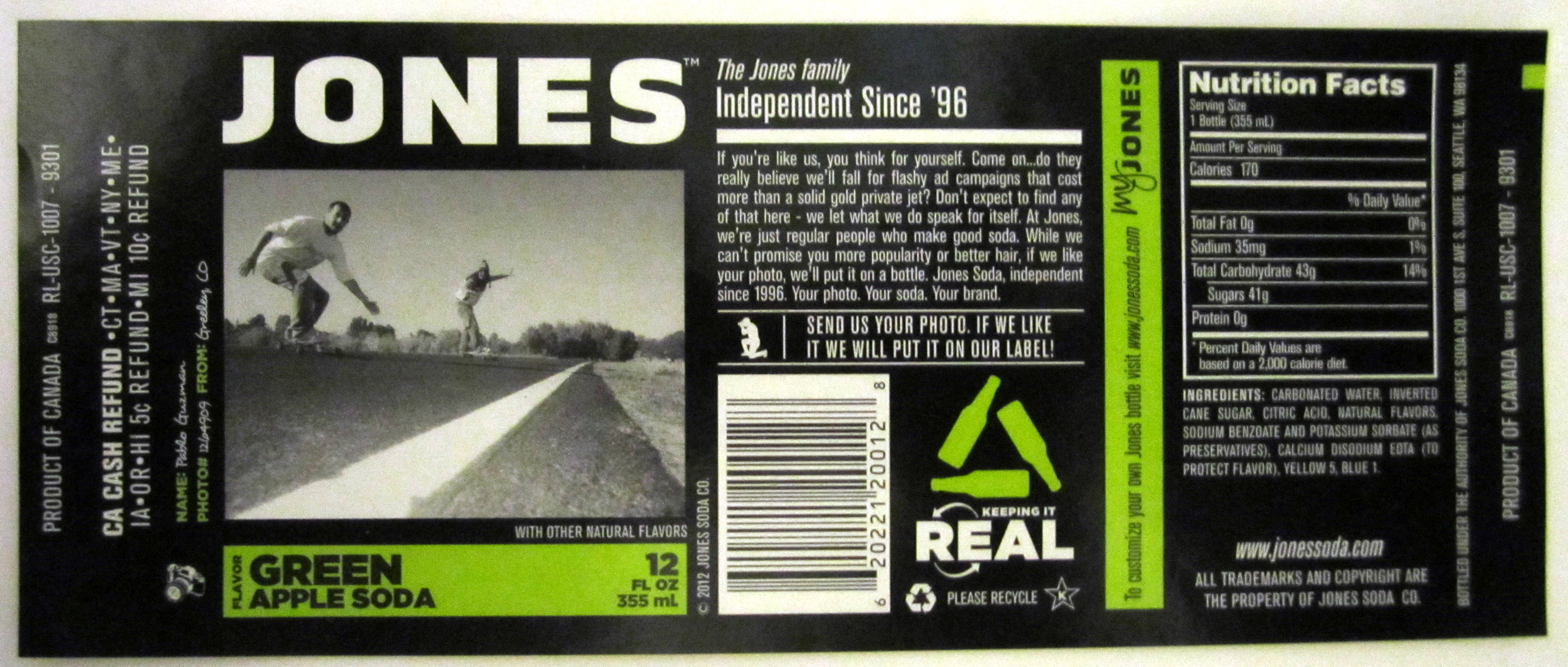 Tyler's Blog: jones soda label