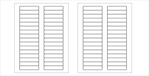 Free blank label template download