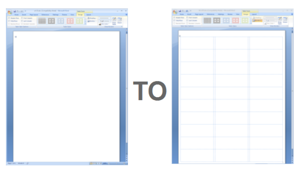 Showing Gridlines in a MS Word Label Template | Worldlabel Blog