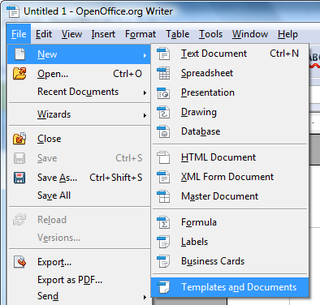 OpenOffice.Training, Tips, and Ideas: Templates