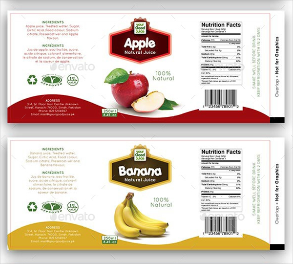 20+ Food Label Templates Free PSD, EPS, AI, Illustrator Format