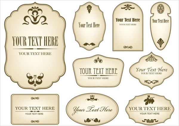 9+ Vintage Bottle Label Templates Free Printable PSD, Word, PDF
