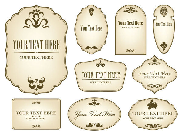 Vector label template free vector download (19,849 Free vector