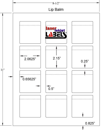 Lip Balm Tube Labels   Print Custom Labels   Wizard Labels