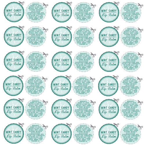 Holiday Lip Balm Template PDF download