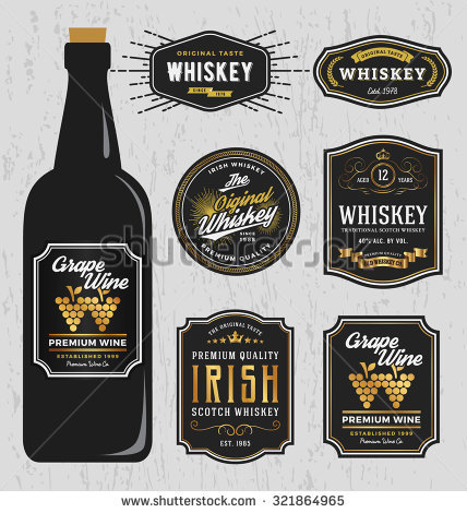 Bottle Label Stock Images, Royalty Free Images & Vectors