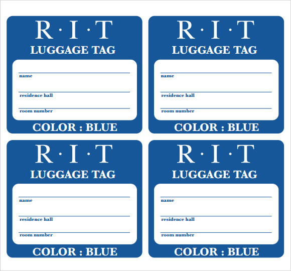 Luggage Tag Template| Luggage Tags – All Form Templates