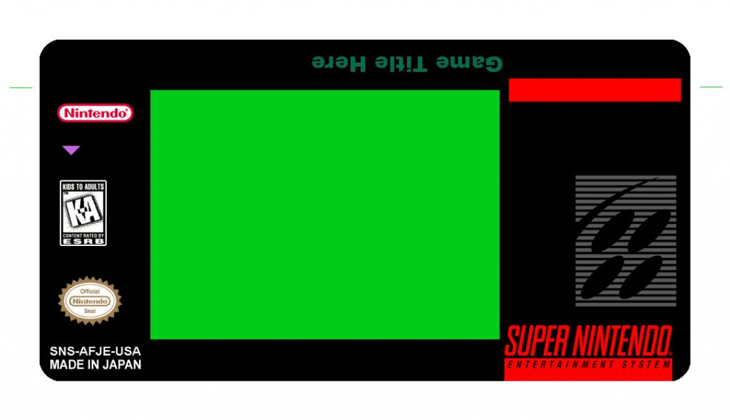 SNES Label Template [USA] by michaelmannucci on DeviantArt