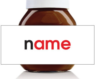Nutella Label Template