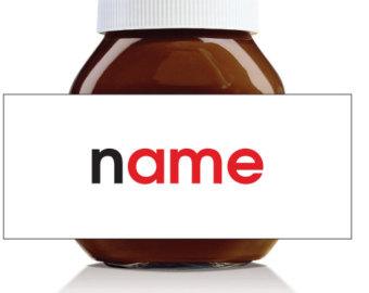 Nutella label | Etsy