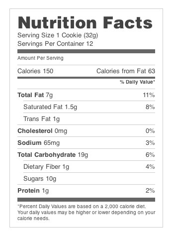 Available Labels Make Your Own Nutrition Facts Labels