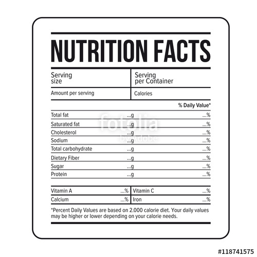 Nutrition Facts Template | doliquid