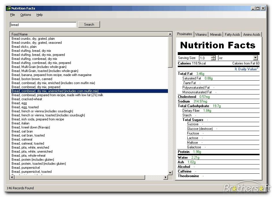 Nutrition Facts Template | sanjonmotel