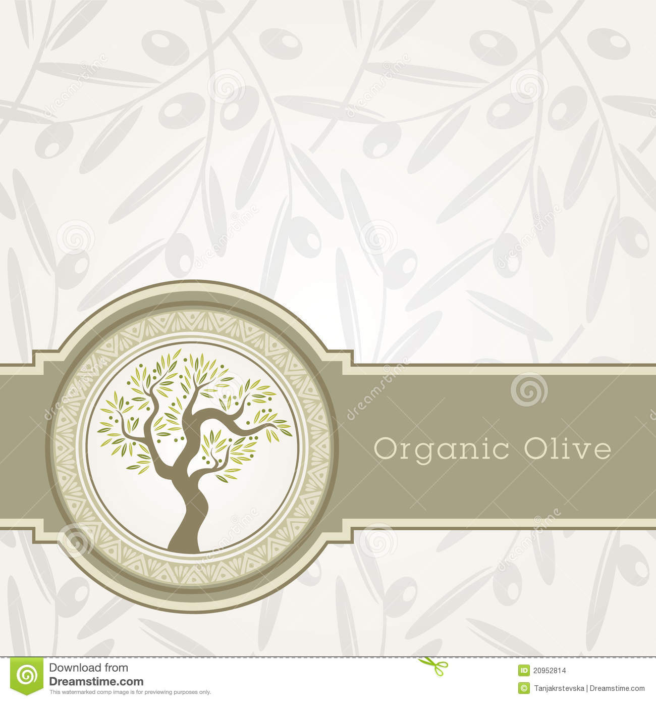 Olive Oil Label Template Stock Images Image: 20952814