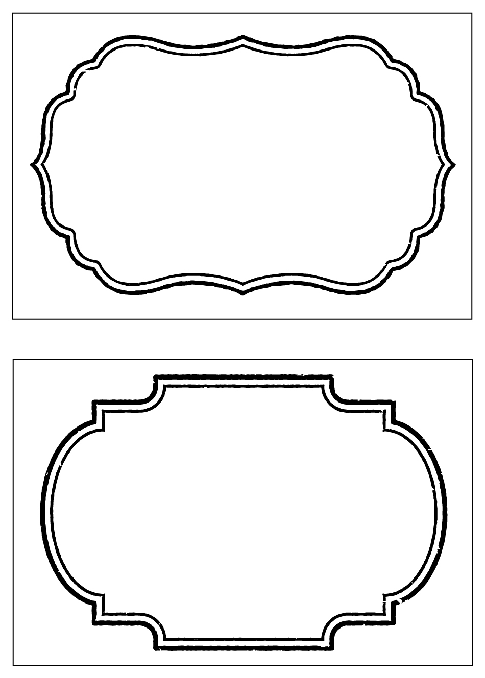 Party Basics: Food Labels Clip Art Library
