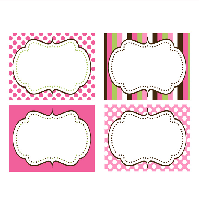 CUPCAKE PRINTABLE FOOD LABELS