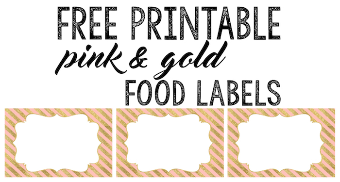 Candy Shoppe Birthday Party PRINTABLE Food Labels pink green