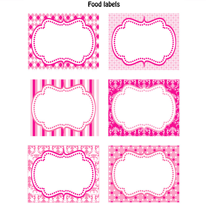 PREPPY COUTURE PRINTABLE FOOD LABELS
