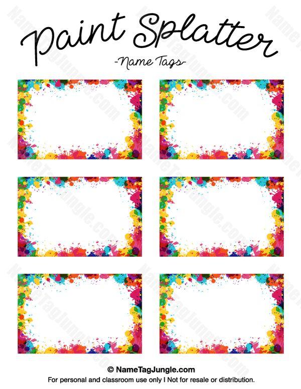 free name tag templates kindergarten | Come back tomorrow for name