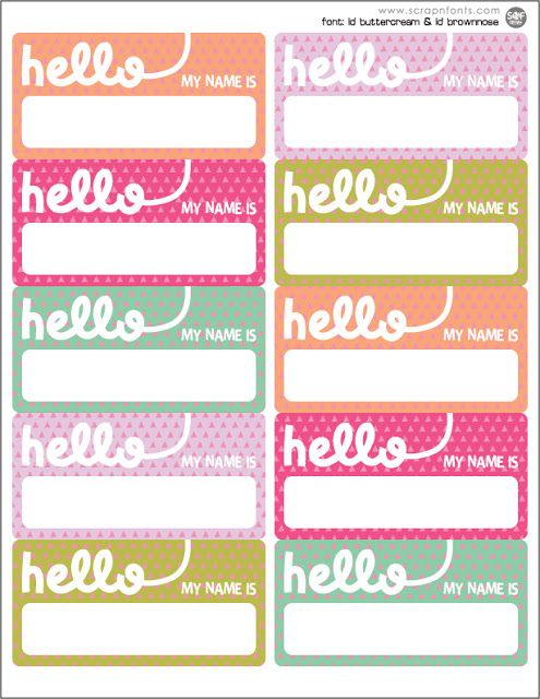 25+ unique Printable name tags ideas on Pinterest | Kids name tags