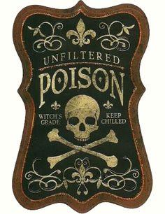 Vintage Poison Labels | Call Me Victorian
