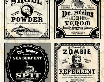 Free Printable Halloween Labels Potions The Graphics Fairy